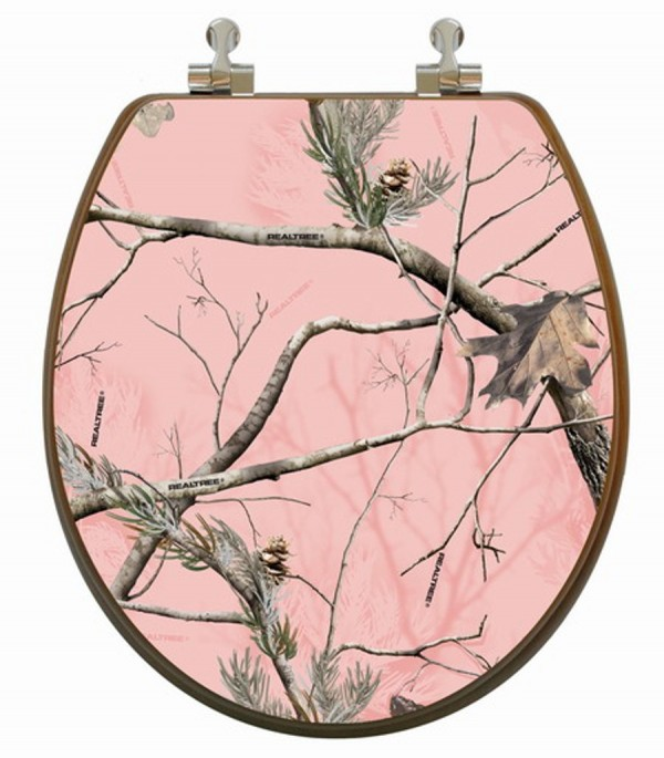 3D Realtree AP HD® Pink Camouflage Toilet Seat Round