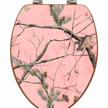Camouflage Toilet Seat Pink Elongated