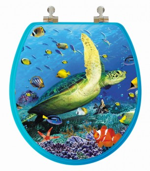 3D Sea Turtle Toilet Seat