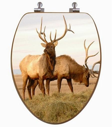 3D Toilet Seat Elk