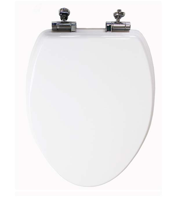 White Toilet Seat Elongated Slow Close