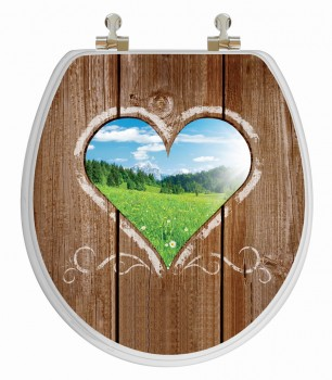 3D Toilet Seat Love Window