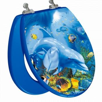 Sea Turtle Round Toilet Seat Open