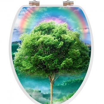 3D Tree Seasons Wooden Toilet Seat
