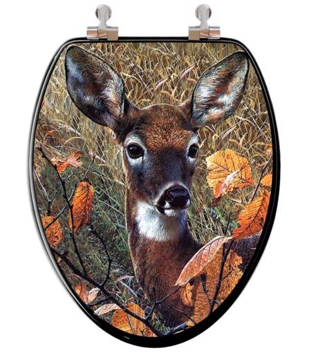 Deer toilet seat
