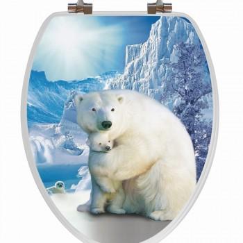 Polar Bear Toilet Seat Elongated