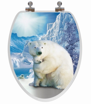 Polar Bear Toilet Seat Elongated