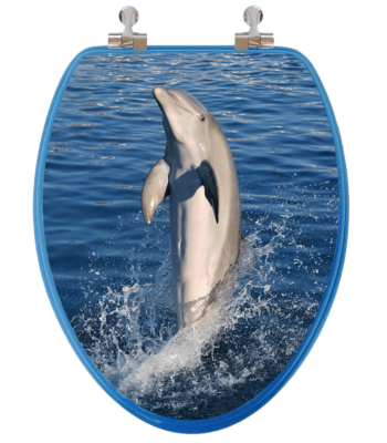 Dolphins Elongated Toilet Seat