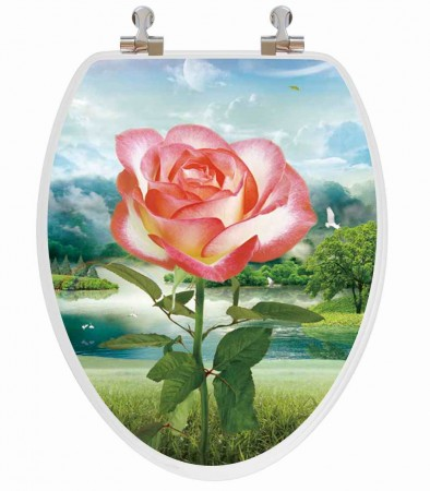 Rose Vario Elongated Toilet Seat 1