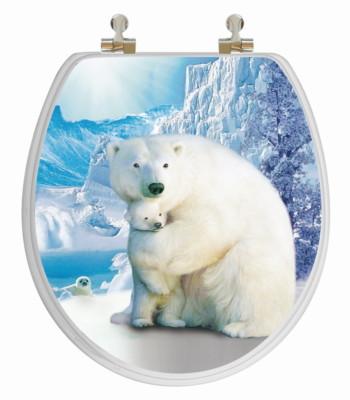 Polar Bear Toilet Seat Round