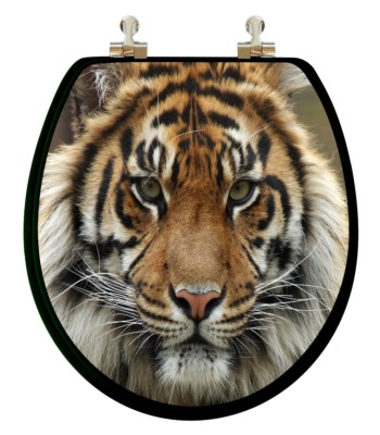 Big Cats Round Toilet Seat