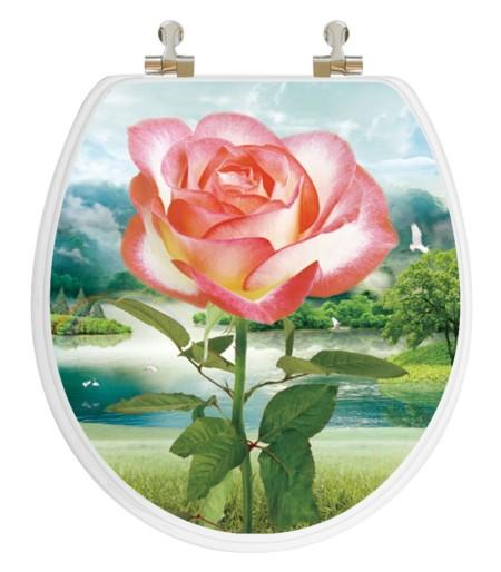 Rose Round Toilet Seat