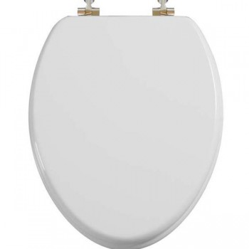 Elongated White Reg Close Toilet Seat