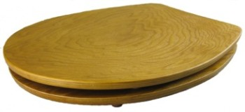 Ergonomic Round Oak Toilet Seat