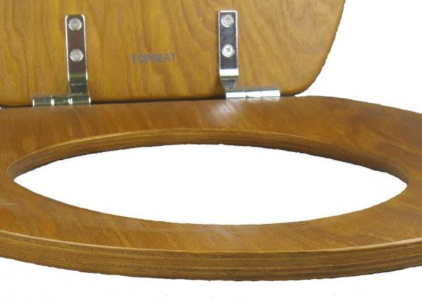 Native Impression 174 Round Toilet Seat W Chromed Metal
