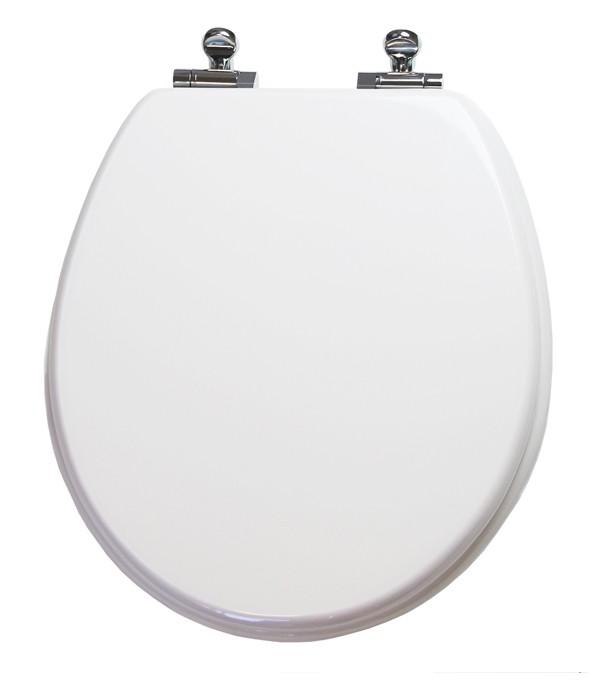 Round White Slow Close Toilet Seat
