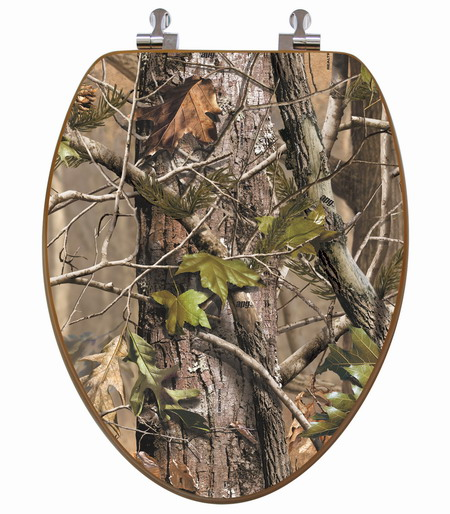 3D Realtree APG® Camouflage Elongated Toilet Seat