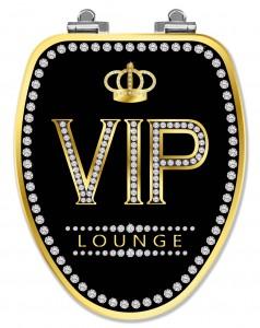 VIP Chrome Elongated Toilet Seat