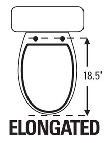 Toilet Seat is Elongated or Round.