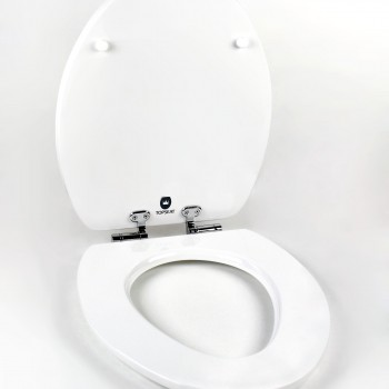 white open acryl magic toilet seat
