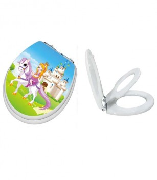 Princess Round Child/Adult Slow Close Toilet Seat Side By Side 0416