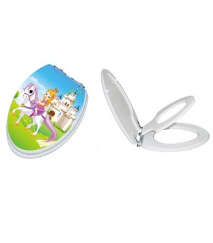 Princess TinyHiney Open/Closed Elongated Child Adult Toilet Seat