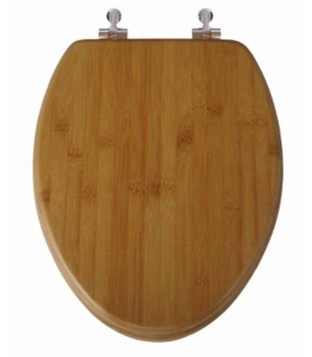 Bamboo Elongated Toilet Seat Closed