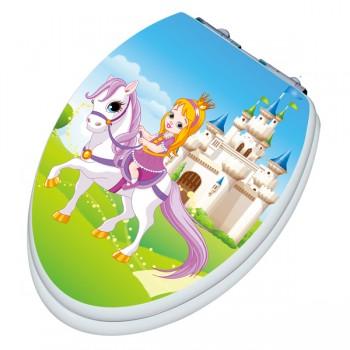 TINYHINEY Elongated Princess SLOW CLOSE Toilet Seat