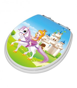 TinyHiney Round Princess Adult/Child Toilet Seat