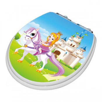 TinyHiney Round Princess Adult/Child Toilet Seat
