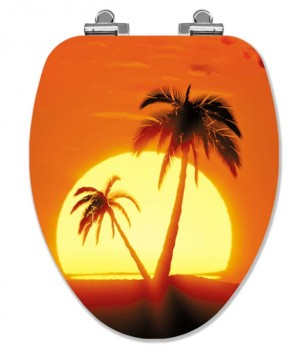 Tropical Sunrise Elongated Toilet Seat