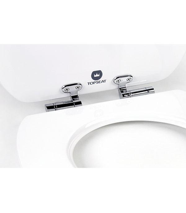 Art of Acryl Toilet Seat White Slow Close Hinges