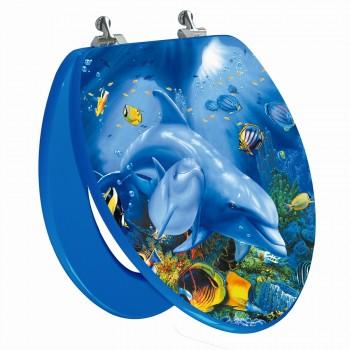 Sea Turtle Elongated Toilet Seat Open
