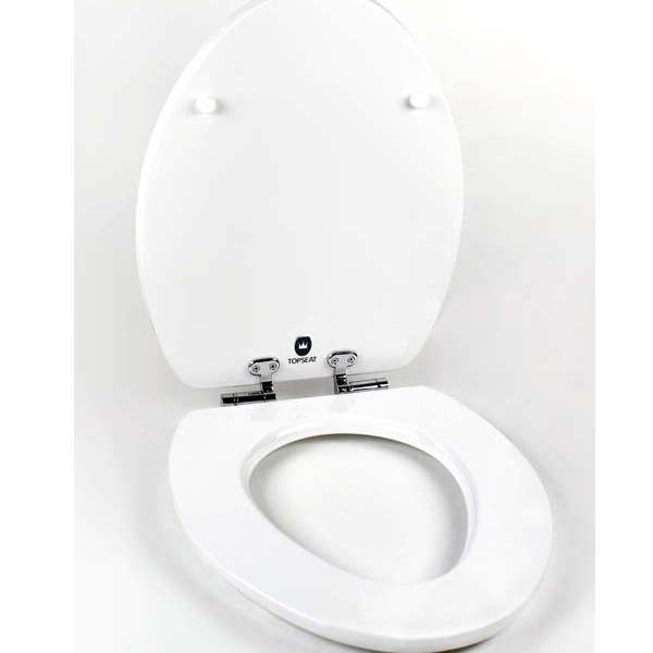 Magic Motion 174 Elongated Toilet Seat W Slow Close Chromed