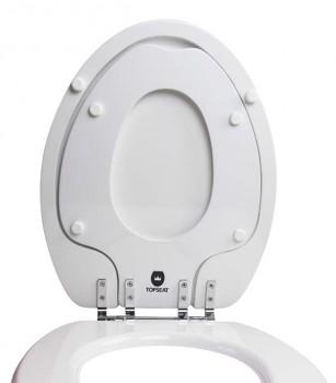 TinyHiney Elongated Toilet Seat Lid Up Regular Hinge