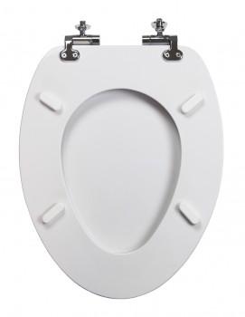 White Round Slow Close Toilet Seat