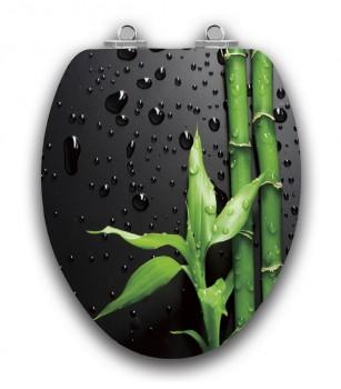 Art of Acryl Piano Black Elongated Slow Close Toilet Seat