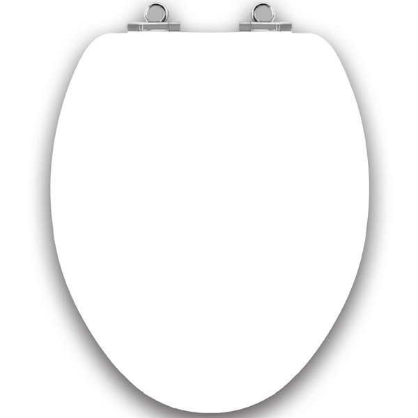 white wooden toilet seat soft close. Art of Acryl Elongated Toilet Seat  White Closed w Slow Close Chromed Metal