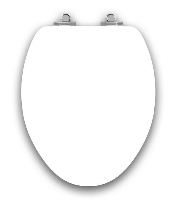 Art of Acryl Elongated Toilet Seat, White Closed