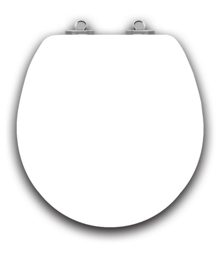 Art of Acryl Round Toilet Seat, White Closed